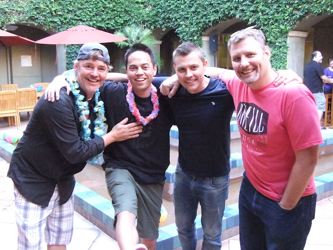 Me with Willy, Merek, and Antony, DreamWorks supervisors!