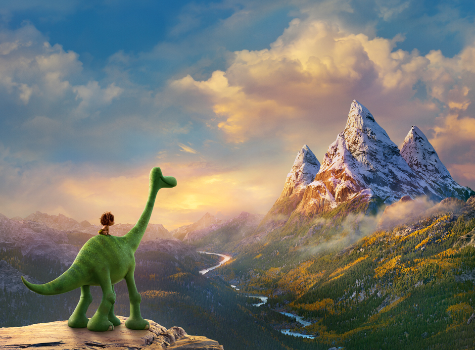 AN UNLIKELY PAIR - In Disney•Pixar's THE GOOD DINOSAUR, Arlo, an Apatosaurus, encounters a human named Spot. Together, they brave an epic journey through a harsh and mysterious landscape. Directed by Peter Sohn, THE GOOD DINOSAUR opens in theaters nationwide Nov. 25, 2015. ©۲۰۱۵ Disney•Pixar. All Rights Reserved.