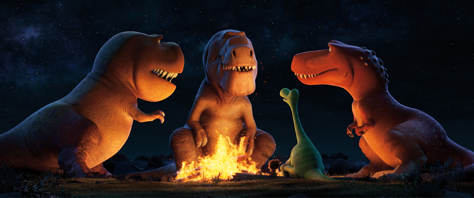 A TRIO OF T-REXES - An Apatosaurus named Arlo must face his fears (and three impressive T-Rexes) in Disney•Pixar's THE GOOD DINOSAUR. Featuring the voices of AJ Buckley, Anna Paquin and Sam Elliott as the T-Rexes, THE GOOD DINOSAUR opens in theaters nationwide Nov. 25, 2015. ©۲۰۱۵ Disney•Pixar. All Rights Reserved.