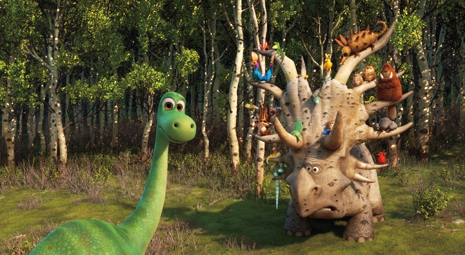 THE GOOD DINOSAUR - Pictured (L-R): Arlo, Forrest Woodbush (aka: The Pet Collector). ©۲۰۱۵ Disney•Pixar. All Rights Reserved.