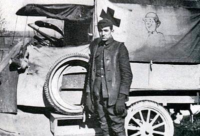 Disney as an ambulance driver immediately after World War I
