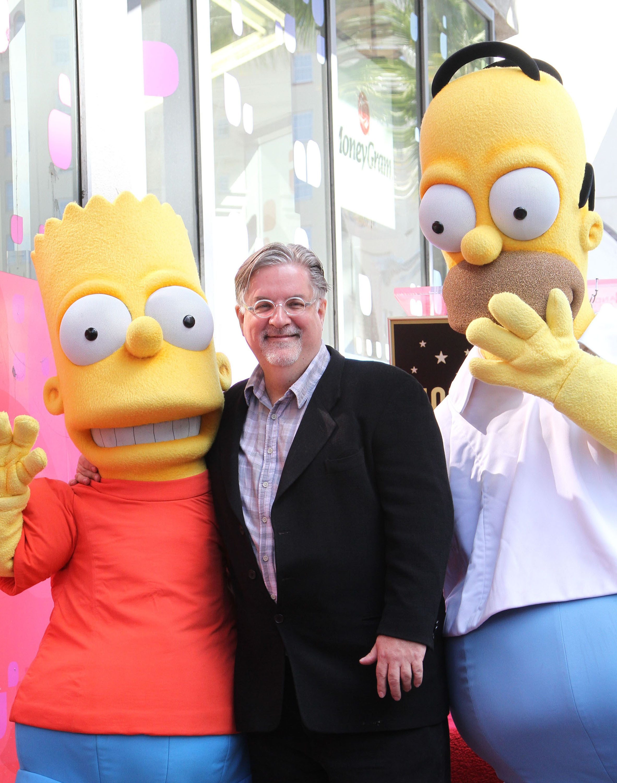 Matt Groening Creator of 'The Simpsons' Matt Groening receives a Star on the Hollywood Walk of Fame Los Angeles, California - 14.02.12 Mandatory Credit: WENN.com/FayesVision