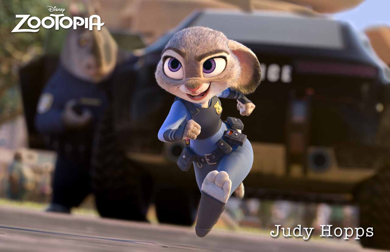 ZOOTOPIA – JUDY HOPPS, an optimistic bunny who's new to Zootopia's police department. ©۲۰۱۵ Disney. All Rights Reserved.